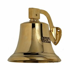 Dated 1834 Plain Ships Bell Polished Brass