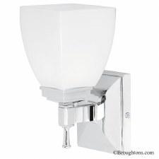 Elstead Shirebrook Bathroom Wall Light Chrome