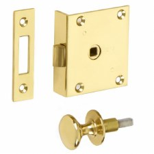 Croft Shutter Latch and Knob Polished Brass