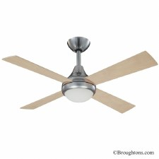 Fantasia Sigma Ceiling Fan with Light Stainless Steel