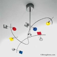 Sil Lux Barcelona Ceiling Pendant Light Chrome