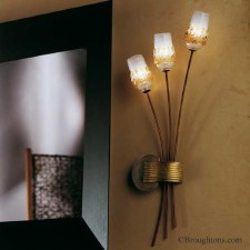 Sil Lux Mosca Wall Light Antique Brown