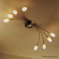 Sil Lux Mosca 8 Arm Ceiling Light Antique Brown