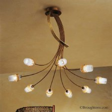 Sil Lux Mosca 9 Light Ceiling Pendant Light Antique Brown