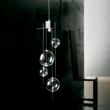 Sil Lux Niagara Small Ceiling Pendant Light Crystal