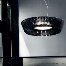 Sil Lux Parigi Ceiling Pendant Light Black