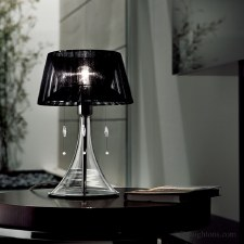Sil Lux Parigi Table Lamp Black Shade