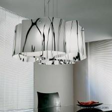 Sil Lux Venezia Ceiling Pendant Light White & Black