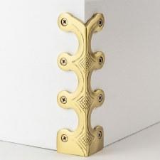 Skiffer Skirting Board Corner Protector Satin Brass 134mm