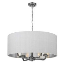 David Hunt SLO0499 Sloane 4 Light Shaded Pendant Pewter