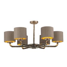 David Hunt SLO0600 Sloane 6 Light Pendant with Shades Bronze