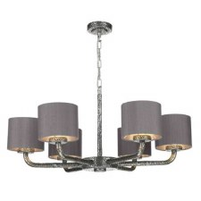 David Hunt SLO0699-SI Sloane 6 Light Pendant with Shades Pewter