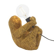 Sloth Table Lamp Vintage Gold