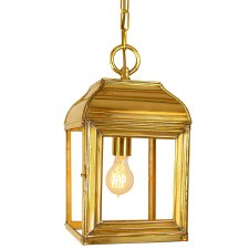 Hemingway Hanging Lantern Small Polished Brass