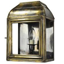 Hemingway Small Outdoor Wall Lantern, Light Antique Brass