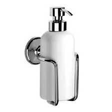 Samuel Heath N1047 Wall Mounted Ceramic Soap Dispenser Polished Chrome