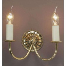 Solar Double Wall Light Polished Brass