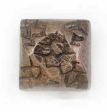 Square Door Stud Country Bronze
