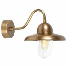 Elstead Somerton Outdoor Wall Light Antique Brass