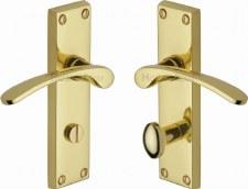 Heritage Sophia V4142 Bathroom Door Handles Polished Brass Lacquered