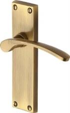 Heritage Sophia V4113 Door Handles Antique Brass Lacquered