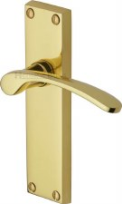 Heritage Sophia V4113 Door Handles Polished Brass Lacquered