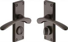 Heritage Sophia Privacy Door Handles V4144 Matt Bronze
