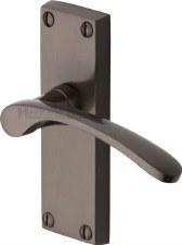 Heritage Sophia Short Latch Door Handles V4140 Matt Bronze