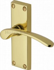 Heritage Sophia V4140 Door Handles Polished Brass Lacquered