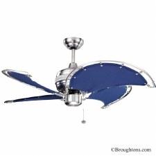 """Fantasia Spinnaker 52"""" Ceiling Fan Blue"""