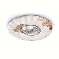Italian Ceramic Flower Spot Light C480 Vintage Bianco
