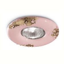 Italian Ceramic Spot Light C481 Vintage Cipria