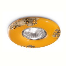 Italian Ceramic Spot Light C481 Vintage Giallo