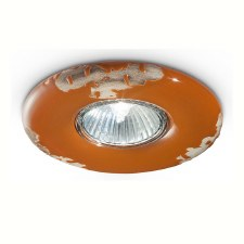 Italian Ceramic Spot Light C481 Vintage Arancio