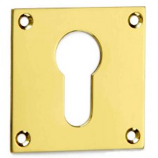 Croft Square Escutcheon 4577 Euro Profile Polished Brass Unlacquered