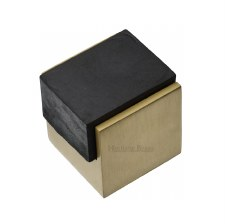 Heritage Floor Mounted Door Stop V1082 Satin Brass