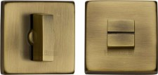 Heritage SQ4035 Bathroom Thumb Turn & Release Antique Brass Lacquered