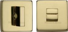 Heritage SQ4035 Bathroom Thumb Turn & Release Polished Brass Lacq