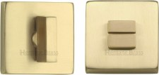 Heritage SQ4035 Bathroom Thumb Turn & Release Satin Brass Lacquered