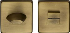 Heritage SQ4043 Bathroom Thumb Turn & Release Antique Brass Lacquered