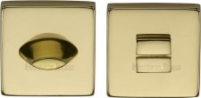 Heritage SQ4043 Bathroom Thumb Turn & Release Polished Brass Lacq