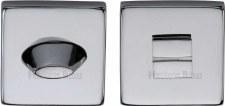 Heritage SQ4043 Bathroom Thumb Turn & Release Polished Chrome