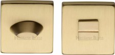 Heritage SQ4043 Bathroom Thumb Turn & Release Satin Brass Lacquered