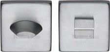 Heritage SQ4043 Bathroom Thumb Turn & Release Satin Chrome