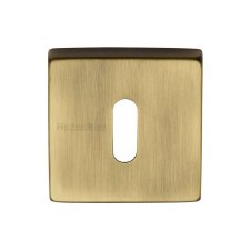 Heritage SQ5002 Square Escutcheon Antique Brass Lacquered