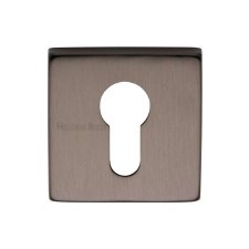 Heritage SQ5004 Square Euro Escutcheon Matt Bronze Lacquered