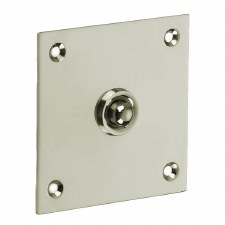 Croft 1911 Square Door Bell Push Polished Nickel