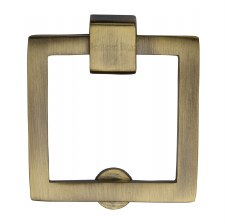 Heritage Square Cabinet Drop Handle C6311 Antique Brass