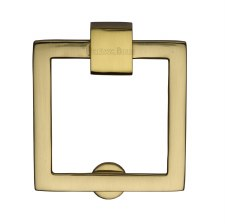 Heritage Square Cabinet Drop Handle C6311 Polished Brass