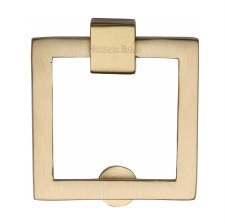 Heritage Square Cabinet Drop Handle C6311 Satin Brass